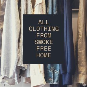 All Clothing is from a smoke free home!